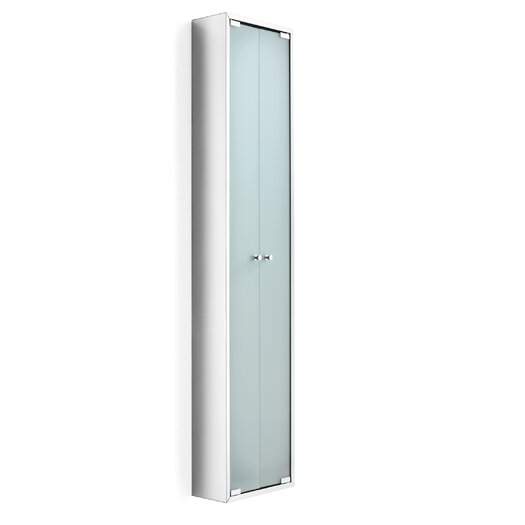 """WS Bath Collections Linea 11.81"""" x 55.1"""" Wall Mounted Linen Tower"""