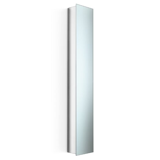 """WS Bath Collections Linea 11"""" x 64.1"""" Mirrored Wall Mount Linen Tower"""