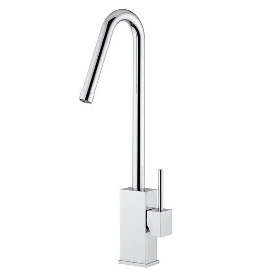 WS Bath Collections Lever Single Hole Bathroom Faucet with Single Handle