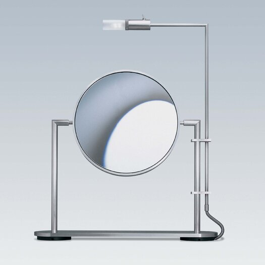 WS Bath Collections Mirror Pure TS1 3X Magnifying Makeup Mirror with Light
