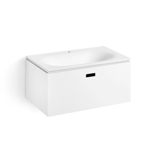 """WS Bath Collections Linea Ciacole 28"""" Wall Mounted Bathroom Vanity Set with Single Sink"""