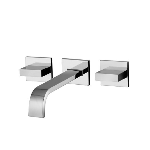 WS Bath Collections Lever Widespeard Bathroom with Push Handle