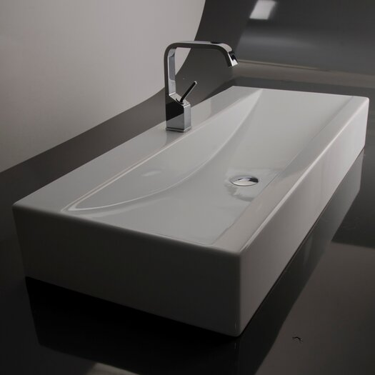 WS Bath Collections Ceramica Valdama LVR Wall Mounted / Vessel Bathroom Sink