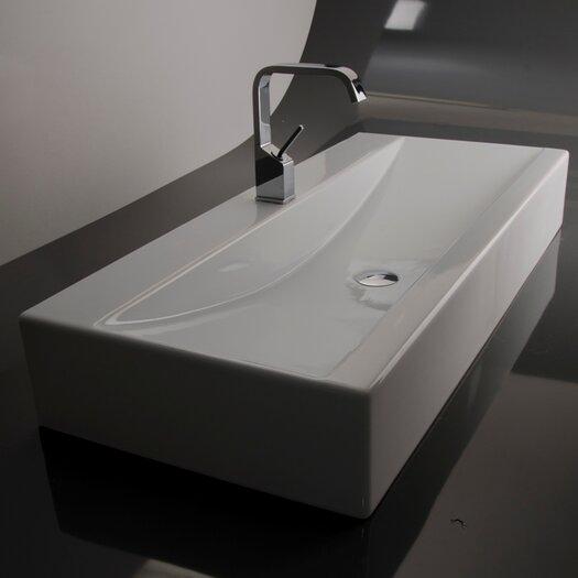 WS Bath Collections Ceramica Valdama LVR Wall Mounted / Vessel Bathroom Sink