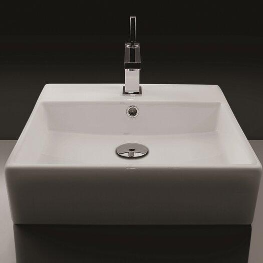WS Bath Collections Ceramica Valdama Unlimited Wall Mount Bathroom Sink