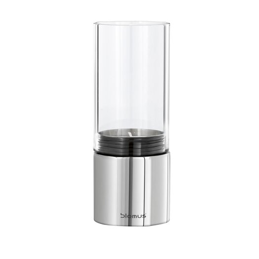 Blomus Faro Wide Steel & Glass Hurricane