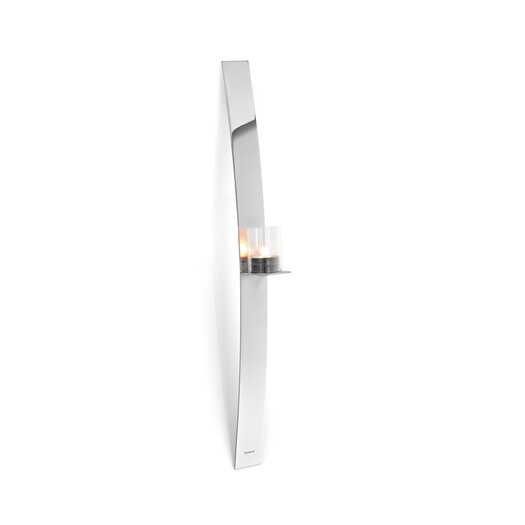 Blomus Lado Steel and Glass Sconce