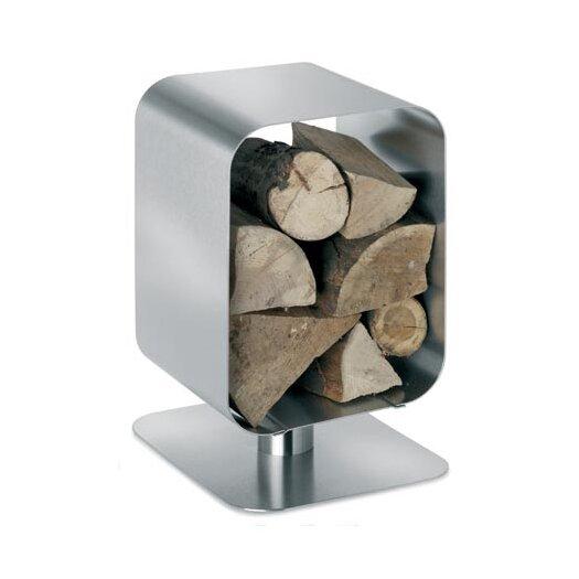 Blomus Bebop Stainless Steel Wood Basket
