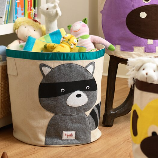 3 Sprouts Racoon Storage Bin