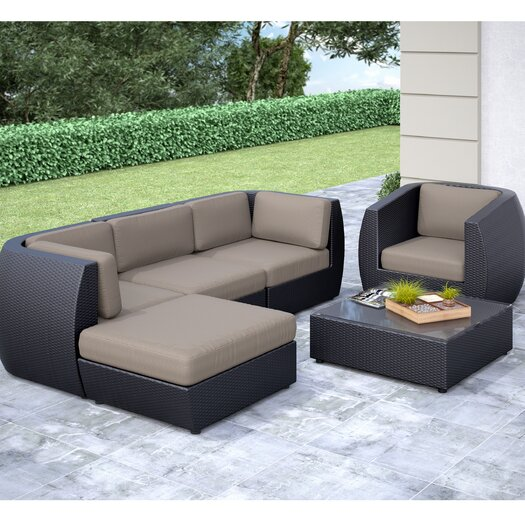 dCOR design Seattle 6 Piece Lounge Seating Group with Cushion