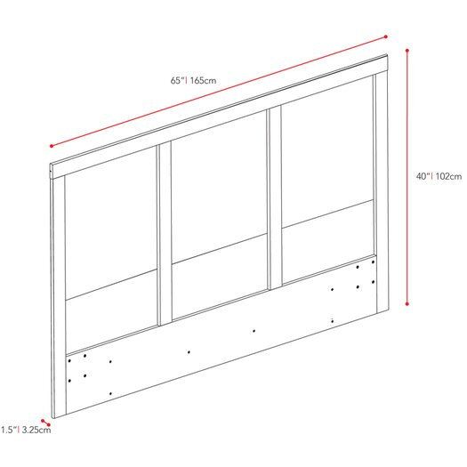 dCOR design Plateau Panel Headboard