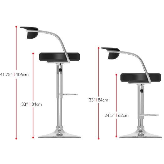 dCOR design CorLiving Adjustable Height Bar Stool