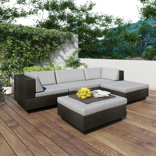 dCOR design Park Terrace 5 Piece Deep Seating Grouping With Cushion