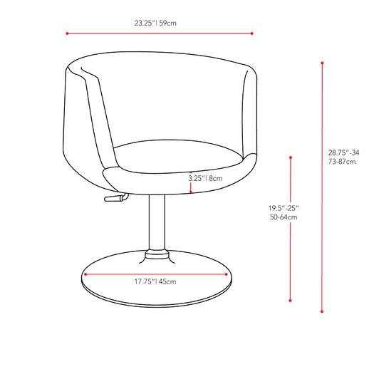 dCOR design Abrosia Adjustable Barrel Arm Chair