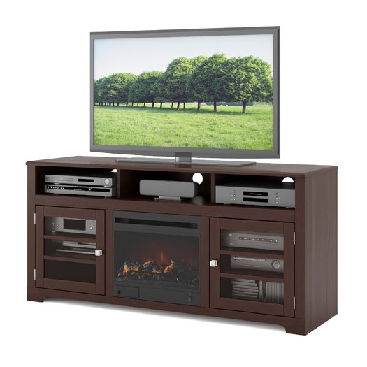 """dCOR design West Lake 60"""" TV Stand with Electric Fireplace"""