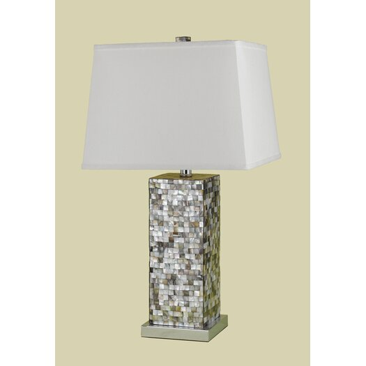 """AF Lighting Sahara 27"""" H Table Lamp with Rectangle Shade"""