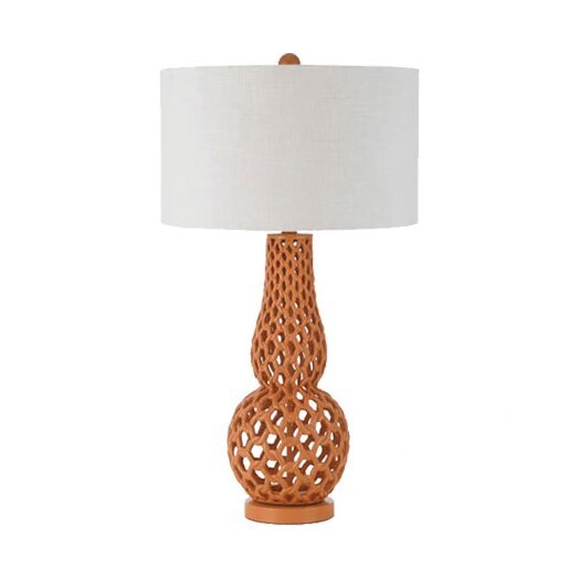 """AF Lighting Horizons Chain Link 31"""" H Table Lamp with Drum Shade"""