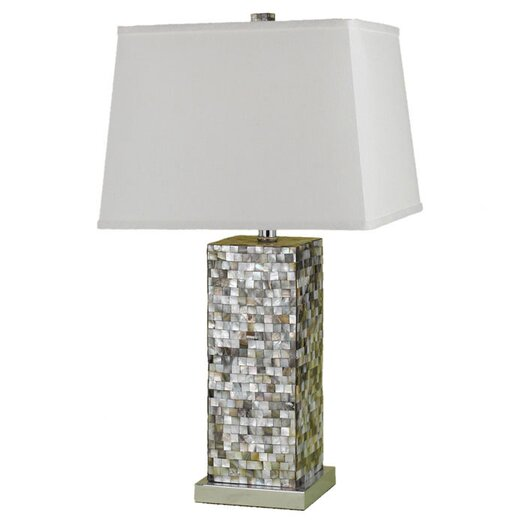 "AF Lighting Sahara 27"" H Table Lamp with Rectangle Shade"