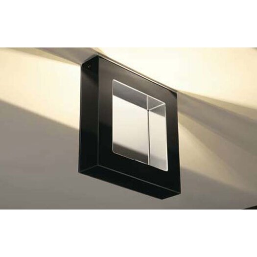 Murano Luce Box Flush Mount in Polished Steel