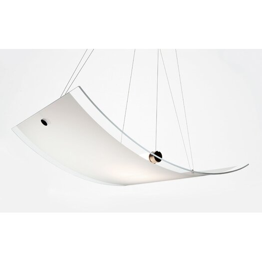 Murano Luce Net Pendant in White
