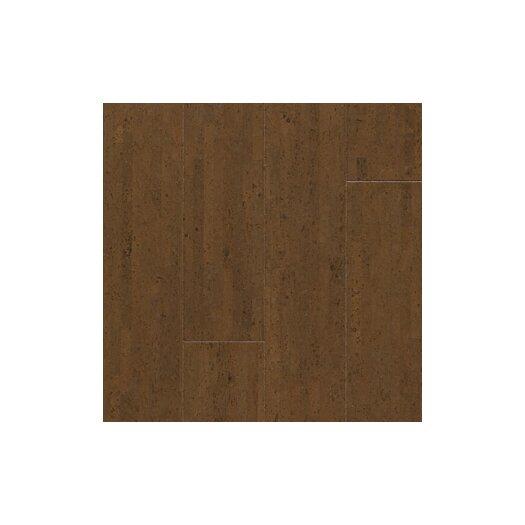 "US Floors Almada Fila 4-1/8"" Engineered Locking Cork Flooring in Café"