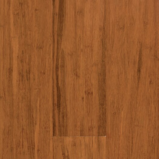 """US Floors Natural Bamboo Expressions 5-1/4"""" Solid Locking Strand Woven Bamboo Flooring in Handscraped Spice"""