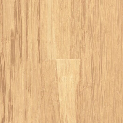 """US Floors Natural Bamboo Expressions 5-1/4"""" Solid Locking Strand Woven Bamboo Flooring in Cotton"""