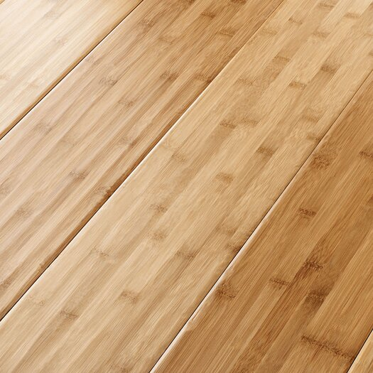 "US Floors Natural Bamboo Traditions 6-5/8"" Hand Scraped Solid Bamboo Flooring in Apricot"