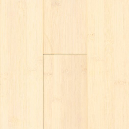 """US Floors Natural Bamboo 3-3/4"""" Solid Bamboo Flooring in White Wash"""