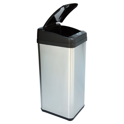 iTouchless Extra-Wide Opening Touchless Trash Can