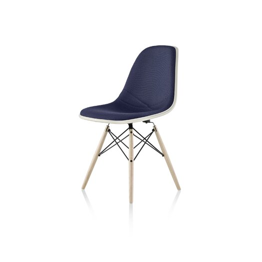 Herman Miller ® Eames Molded Plastic Upholstered Side Chair with Dowel Base