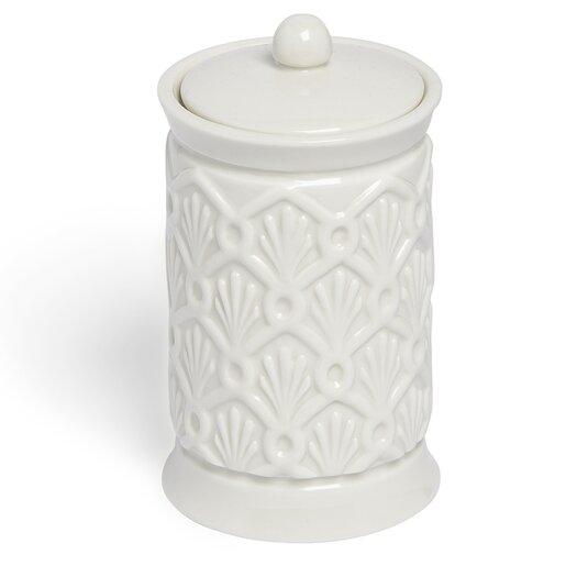 Kassatex Fine Linens Deco Fan Cotton Jar