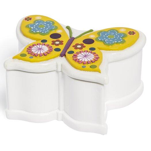 Kassatex Fine Linens Bambini Butterflies Jar