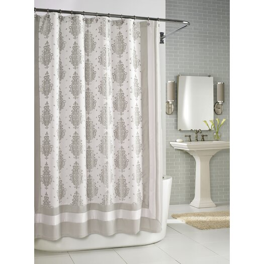 Kassatex Fine Linens Roma Shower Curtain in Taupe