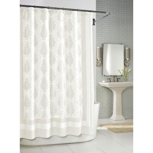 Kassatex Fine Linens Roma Shower Curtain in White