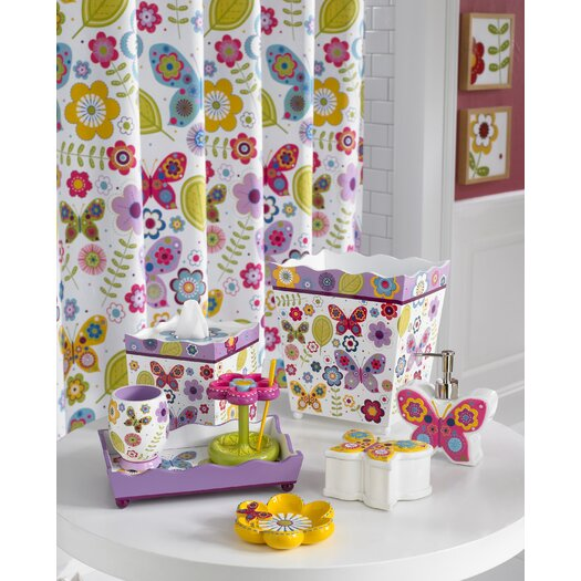 Kassatex Fine Linens Bambini Butterflies Toothbrush Holder