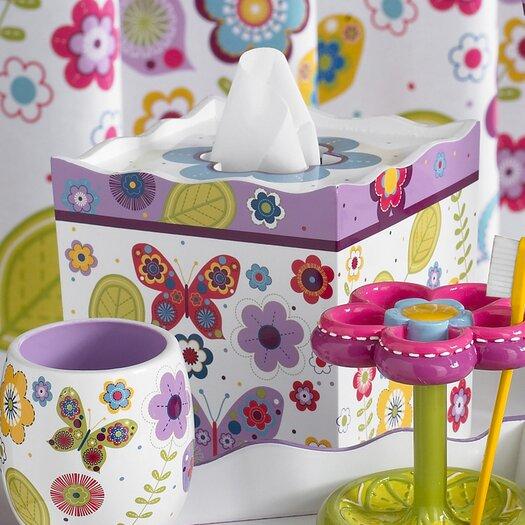 Kassatex Fine Linens Bambini Butterflies Tissue Holder