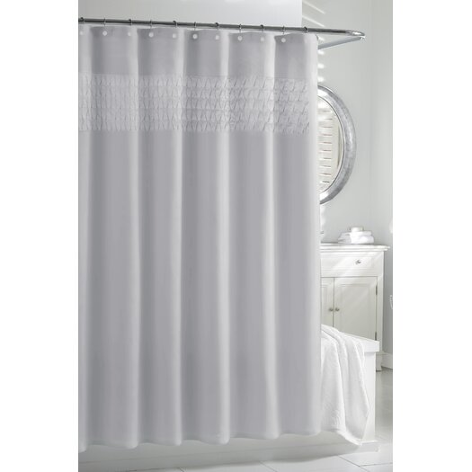 Kassatex Fine Linens Smock Pleat - Cortina Polyester Shower Curtain