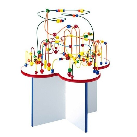 Anatex Fleur Rollercoaster Table with Wood Legs