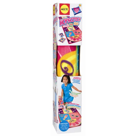 ALEX Toys Hopscotch Purple Area Rug