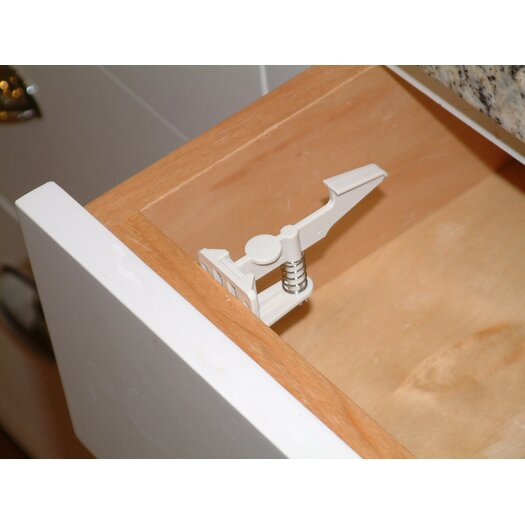 Cardinal Gates Safety Drawer and Cabinet Latch in White (50 pieces)