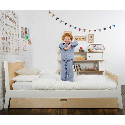 Oeuf Sparrow Trundle Bed in White