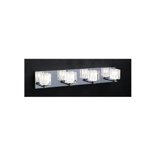 PLC Lighting Glacier 4 Light Vanity Light