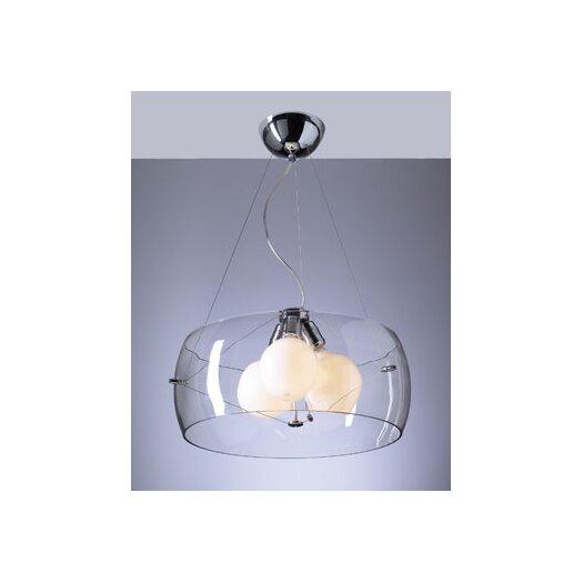 PLC Lighting Lumisphere 3 Light Mini Drum Pendant