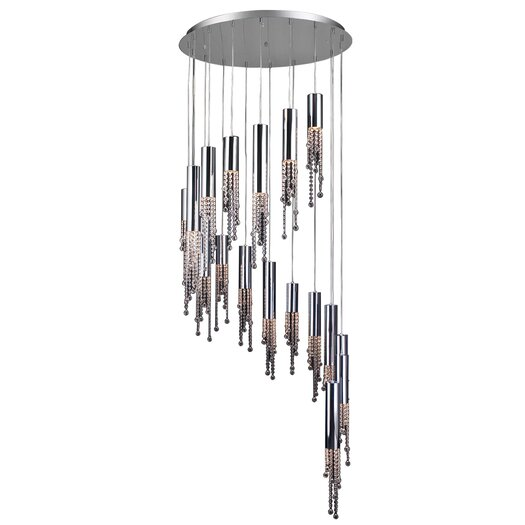 PLC Lighting Trento 18 Light Crystal Chandelier