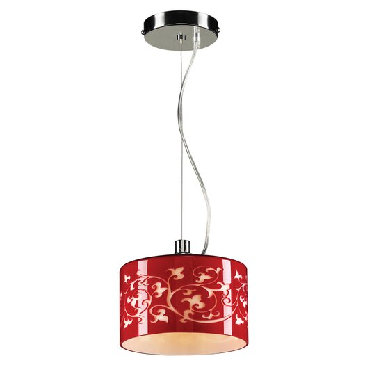 PLC Lighting Tuxedo 1 Light Mini Pendant