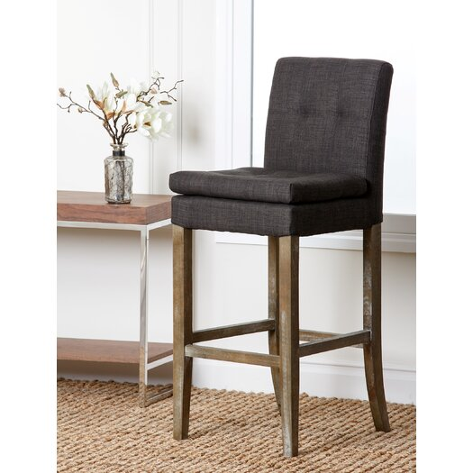 "Abbyson Living Laura 19.5"" Bar Stool with Cushion"