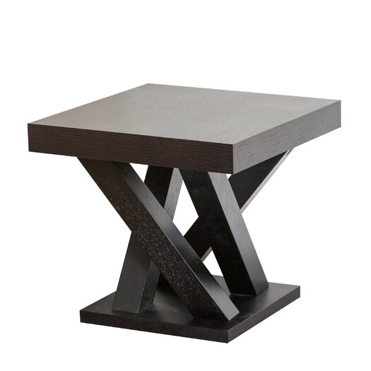 Abbyson Living Kinlin Espresso Wood End Table