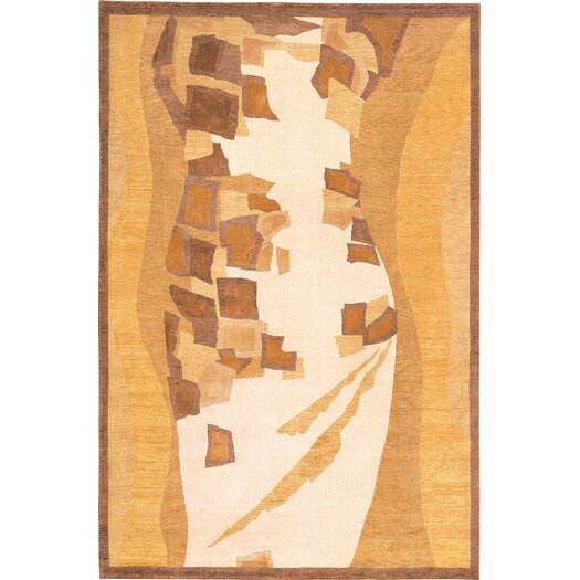 Abbyson Living Charisma Gold / Ivory Himalayan Sheep Indoor / Outdoor Area Rug