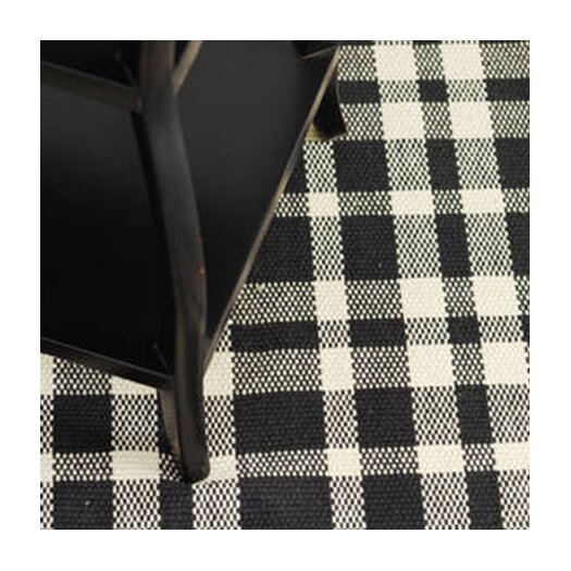 Dash and Albert Rugs Woven Tattersall Black Area Rug